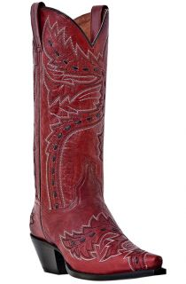Womens Cowboy Boots Dan Post Sidewinder Medium B M Snip Toe Red