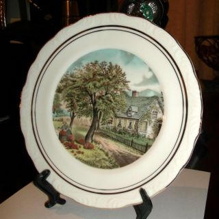 CURRIER AND IVES WALL OR SHOW PLATE AUTUMN