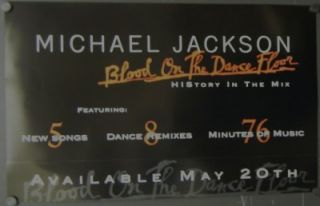 Jackson Double Sided Promo Poster Blood on The Dance Floor 1997