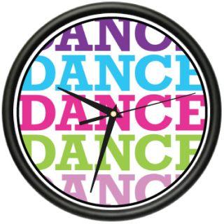 Dance Dance Dance Wall Clock Hip Hop Salsa Merengue Zumba Ballet Dance