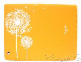 Orange Dandelion Magnetic Smart PU Leather Folio Case Cover for New