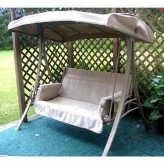 Hampton Bay Charm 2 Person Patio Swing Replacement Canopy & Cushion