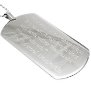Stainless Steel Personalized 3 Dog Tag Pendant with Necklace