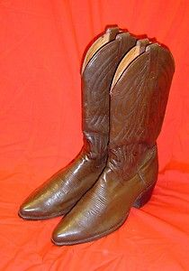 Dan Post Brown Leather Western Cowboy Boots Sz 9 5 D