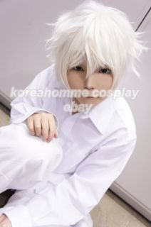Death Note Near Cosplay Wig Short White Grey Costume