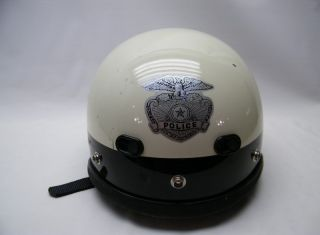 Vintage Bell Model 500 Police Biker Motorcycle Helmet Extra Large XL