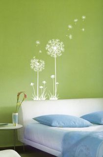 Dandelion Flowers Vinyl Stickers Home Wall Decals Mural