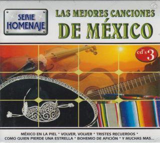 Las Mejores Canciones de Mexico CD New 3 Disc Set Mexico En La Piel Y