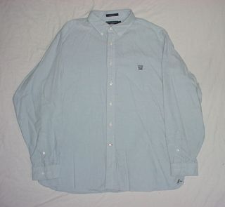 DANIEL CREMIEUX CLASSICS BLUE BUTTON DOWN LONG SLEEVE SHIRT MENS