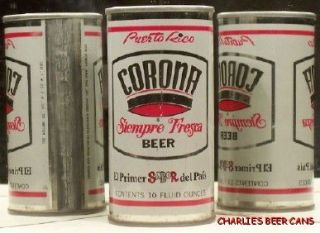 Corona Beer 10 oz s s Cerveza Can Puerto Rico Can 473