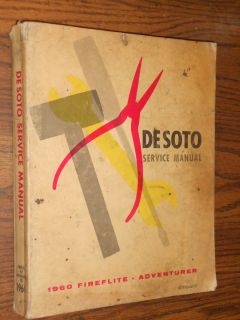 1960 DE SOTO SHOP MANUAL / ORIGINAL BASE BOOK FOR 1961 DESOTO