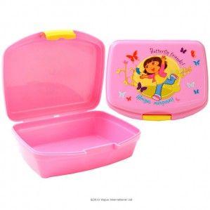 Dora Explorer Official Sandwich Lunch Bag Box Tuppa New