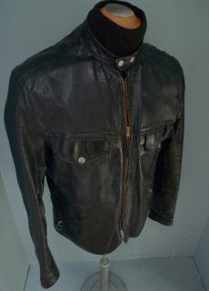 SZ46 RARE Vtg 60s Brooks Buco J27 Type Leather Motorcycle Jacket