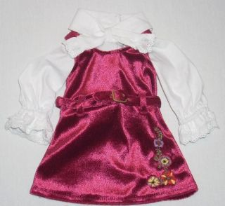 AMERICAN GIRL Doll Julie Christmas Outfit Jumper Blouse Holiday Dress