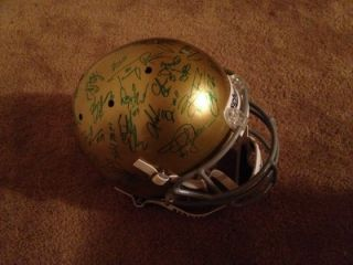 2012 NOTRE DAME FIGHTING IRISH TEAM SIGNED FULL SIZE HELMET #1 RANKED