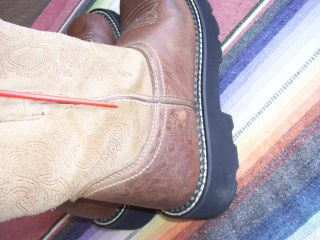Womens Ariat Fat Baby Brown Western Boots 7 5 B D180