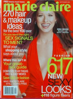 CLAIRE Magazine September 2001 Debra Messing Stephanie Seymore FASHION