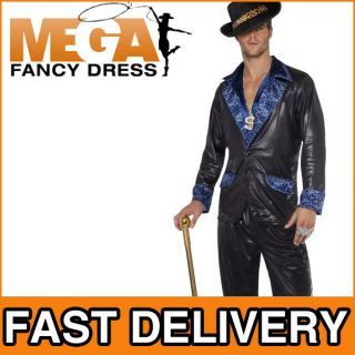 Pimp Daddy 1970s Fancy Dress Party 70s Outfit Mens Adult Costume