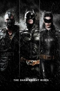 BATMAN THE DARK KNIGHT RISES   MOVIE POSTER (TRYPTICH BANE, BATMAN