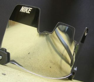 Silver Mirror Insert Fit Nike Football Visor Eyeshield