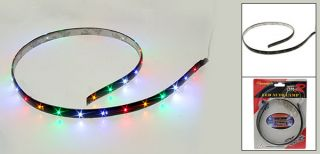 Car Auto Decorative Colorful 30 LED Flexible Light Strip DC 12V
