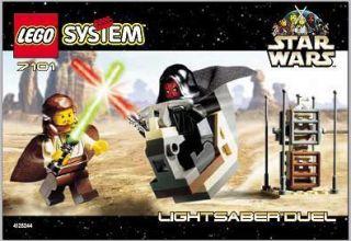 Lego LIGHTSABER DUEL 7101 Set Darth Maul Qui Gon Jinn minifigs