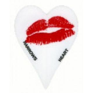 """Harrows """"Red Lips"""" Heart Shaped Dart Flights"""