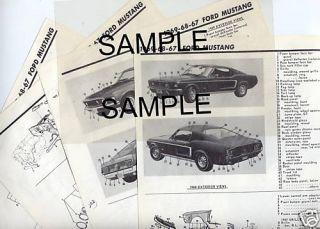 1959 1960 Dodge Dart Body Parts List Frame Crash Sheets M