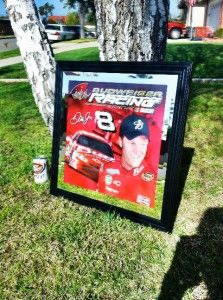 Budweiser Dale Earnhardt Jr NASCAR Bar Mirror Sign New