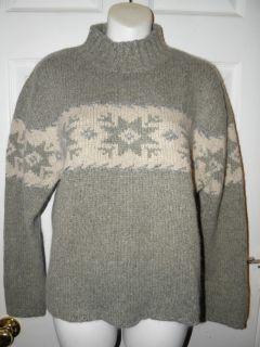Nomadic Traders Sage Silk Angora Snow Sweater S
