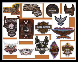 Lot Set 14 Harley Davidson Motorcycle Stickers Decals