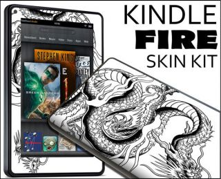 Kindle Fire Skin Vinyl Decal eBook Netbook Tablet 064 Dragon