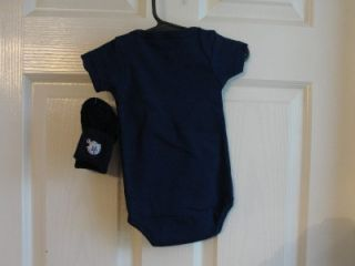 Dallas Cowboys Baby One Piece 3 6 Months with Socks Navy Blue SM Logo