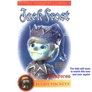 Jack Frost Christmas TV Special Buddy Hackett VHS New