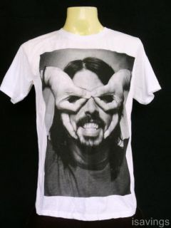 Dave Grohl Foo Fighters T Shirt Rock New White s M L