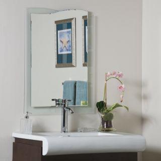 Wave Edge Clear Glass Modern Frameless Wall Mirror