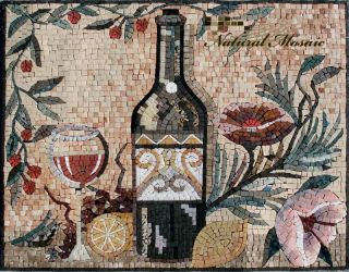 28 x 22 Marble Mosaic Backsplash Mural Art Tile Deco