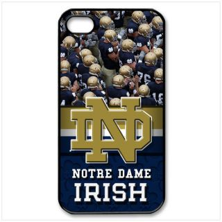 Notre Dame Fighting Irish on iPhone Case 4 4S Hard Plastic Black Cover