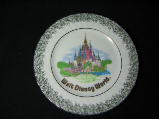 Vintage Porcelain Disney World Gilt Decorative Plate