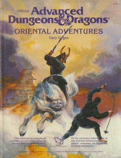 Advanced Dungeons Dragons RPG Book Oriental Adventures