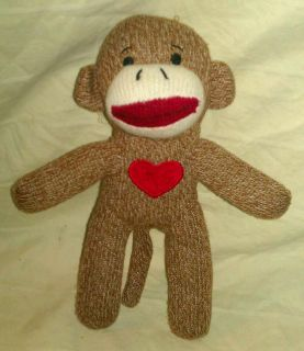 SOCK MONKEY ANIMAL PLUSH TOY DOLL DAN DEE COLLECTORS CHOICE BROWN W