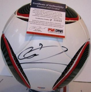 Cristiano Ronaldo Signed Adidas FIFA World Cup Ball Soccer Real Madrid