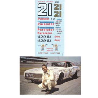 21 David Pearson Purolator Mercury Decal 1 64 Scale