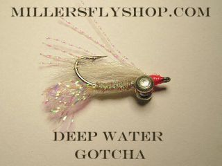 Deep Water Gotcha White 6 Bonefish flies