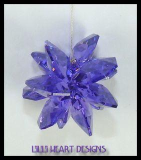 New Swarovski Crystal Octagons Sunburst Blue Violet Purple Sun Catcher