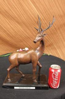 15 Bronze Marble Statue Elk Stag Buck Deer Lodge Decor