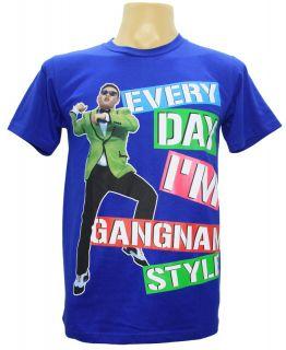 New Mens T Shirt Gangnam Style Tee Korean Pop Singer Artist Dance