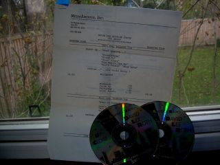 1988 DAVID LEE ROTH RADIO INTERVIEW DOUBLE DISC AND CUE SHEET VAN