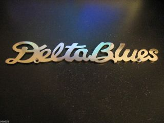 DELTA BLUES Logo Emblem STAINLESS STEEL guitar case amp logo Laser Cut