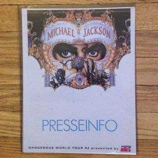 RARE 1992 MICHAEL JACKSON Dangerous Tour German Press Packet MINT